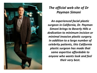 Dr Payman Simoni - The Best Plastic Surgeon