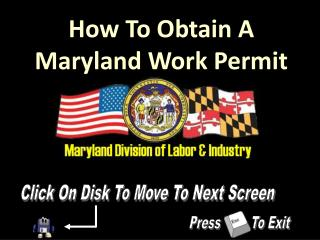 How To Obtain A Maryland Work Permit