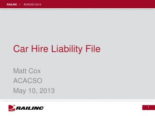 Car Hire Liability File