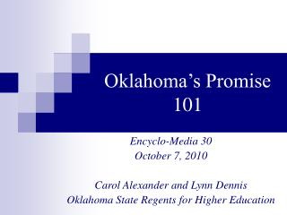 Oklahoma s Promise 101