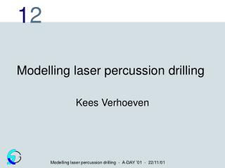 Modelling laser percussion drilling