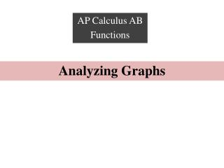 Analyzing Graphs