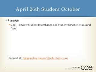April 26th Student October