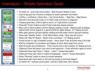 Interceptor – Simple Operation Guide