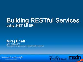 Building RESTful Services using .NET 3.5 SP1