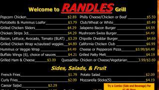 Popcorn Chicken $2.89    Philly Cheese/Chicken or Beef  $5.59