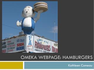 Omeka Webpage: Hamburgers