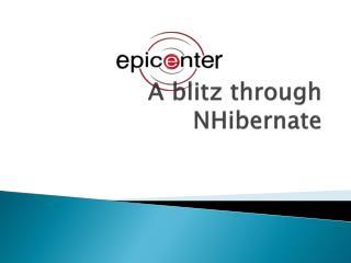 A blitz through  NHibernate