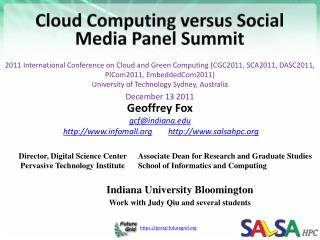 Cloud  Computing  versus  Social  Media Panel Summit