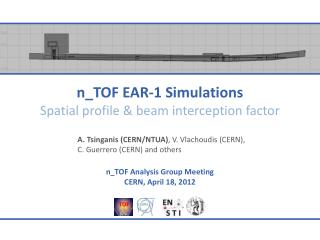 n_TOF  EAR-1 Simulations Spatial profile & beam interception factor