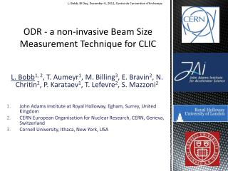 ODR - a non-invasive Beam Size Measurement Technique for CLIC