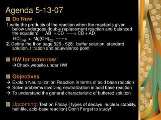Agenda 5-13-07