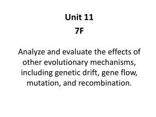 Unit 11 7F