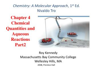 Chapter 4 Chemical Quantities and Aqueous  Reactions Part2