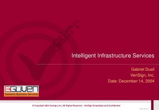 Intelligent Infrastructure Services