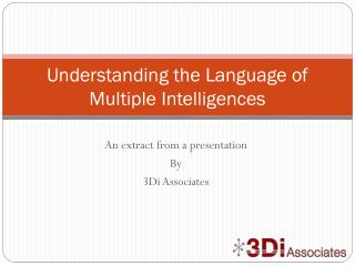 Understanding the Language of Multiple Intelligences