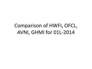 Comparison of HWFI, OFCL, AVNI, GHMI for 01L-2014