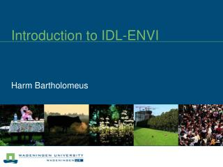 Introduction to IDL-ENVI