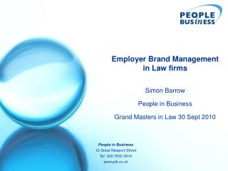 Employer Brand Management  in Law firms