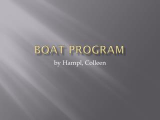 Boat Program