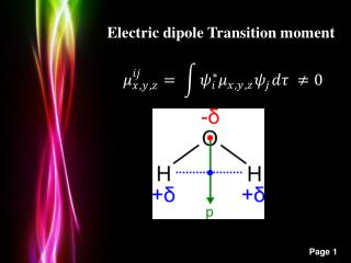 Electric dipole Transition moment