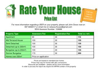 Prices are based on standard size homes Prices may vary for homes with attic conversions