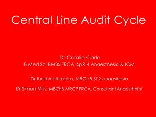 Central Line Audit Cycle