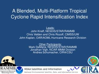 A Blended, Multi-Platform Tropical Cyclone Rapid Intensification Index