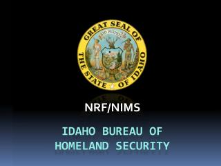 Idaho Bureau of  Homeland Security