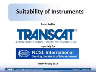 Suitability of Instruments