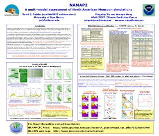 Results of NAMAP (see much more in the CPC Atlas and  BAMS  paper)