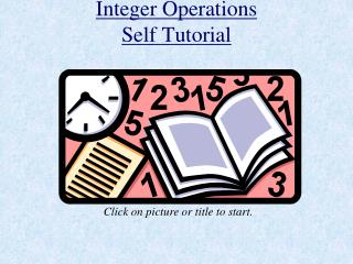 Integer Operations Self Tutorial