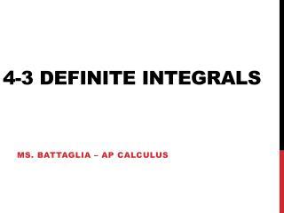 4-3 definite integrals