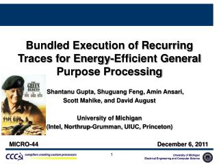 Bundled Execution of Recurring Traces for Energy-Efficient General Purpose Processing