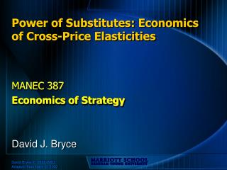 Power of Substitutes: Economics of Cross-Price Elasticities
