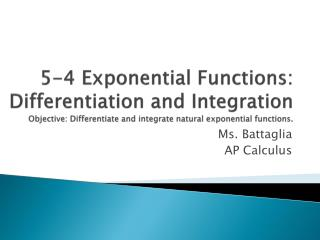 Ms.  Battaglia AP Calculus