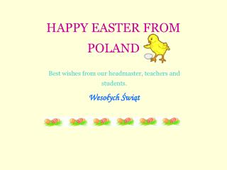 HAPPY EASTER FROM POLAND