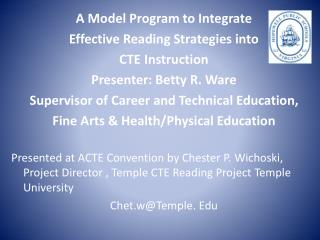 A Model Program to Integrate Effective Reading Strategies into CTE Instruction