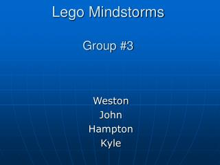 Lego Mindstorms Group #3