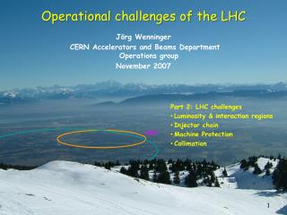 Operational challenges of the LHC