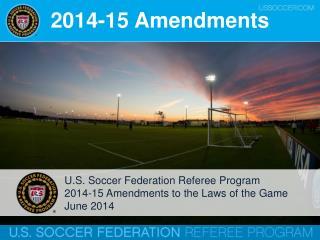 2014-15 Amendments