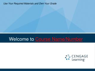 Welcome to  Course Name/Number