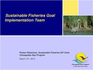 Sustainable Fisheries Goal Implementation Team