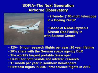 SOFIA--The Next Generation Airborne Observatory