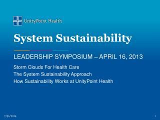 System Sustainability