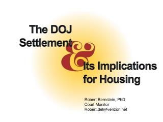 The DOJ Settlement