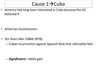 Cause 1 Cuba
