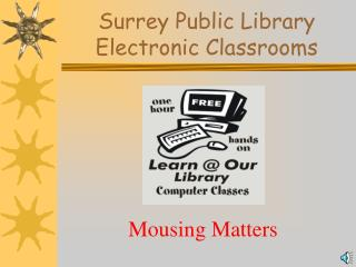 Surrey Public Library Electronic Classrooms