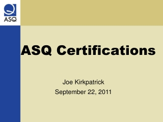 ASQ CERTIFICATION