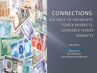 Connections:  Balance of Payments,  Forex Markets,  Loanable Funds  Markets